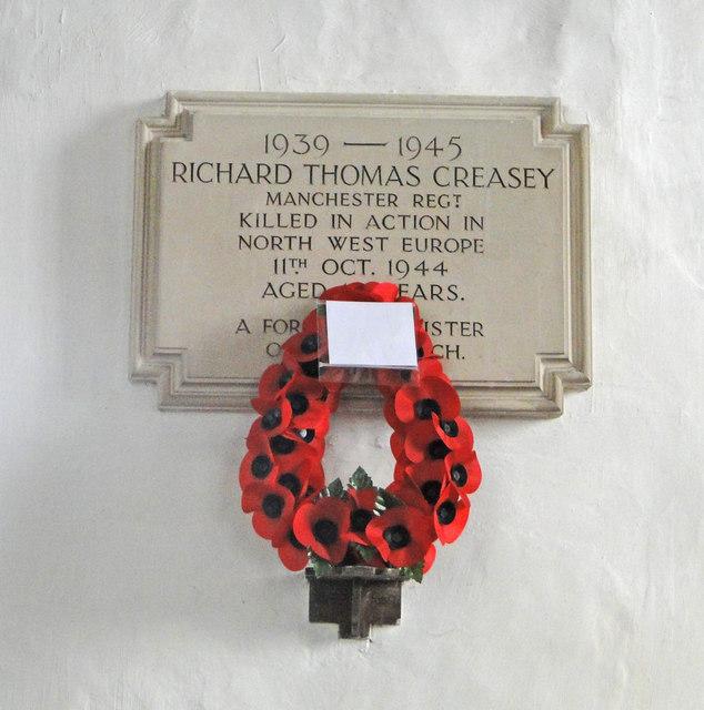 Henley (Suffolk) WW2 War Memorial