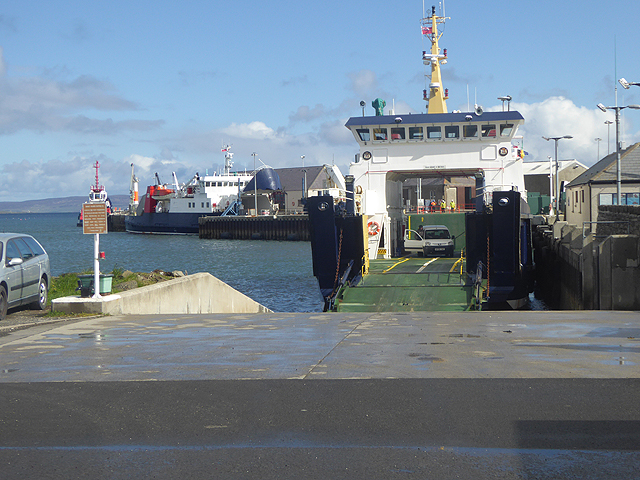 Shapinsay ferry at Kirkwall Harbour