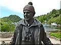 NS4190 : Tom Weir statue: detail by Lairich Rig