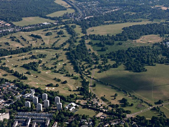 Richmond Park Golf Club from the air
