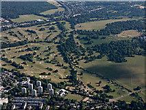 TQ2173 : Richmond Park Golf Club from the air by Thomas Nugent