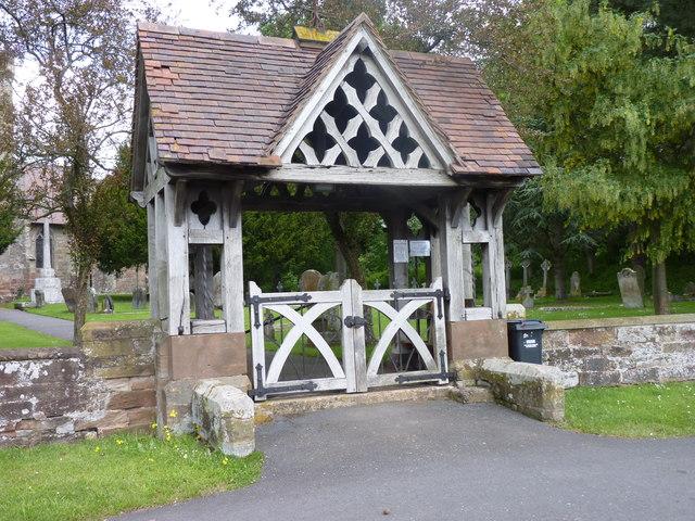Lych Gate to Hampton Lovett church
