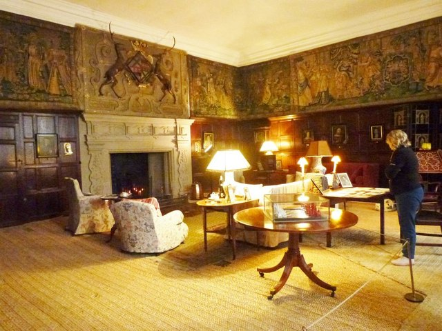Cosy small drawing room at Hardwick Hall