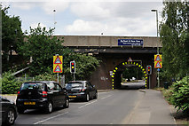 TQ0562 : Bridge at Byfleet by Peter Trimming