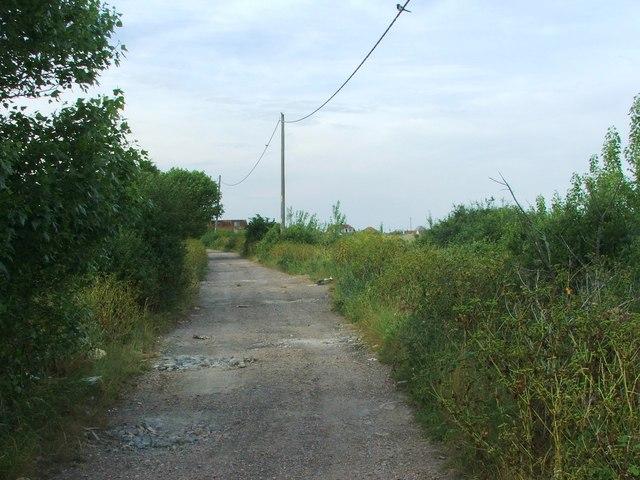 Track leading to Studd Hill estate