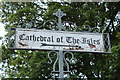 NS1655 : Cathedral of the Isles Signpost by Billy McCrorie