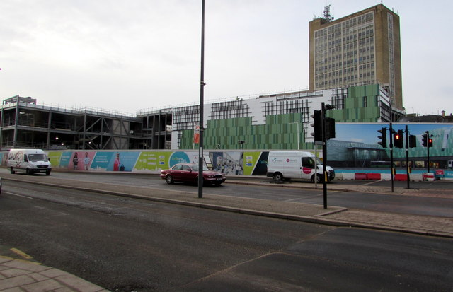 Construction of Friars Walk shopping centre, Newport by Jaggery