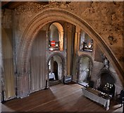 TL7835 : Castle Hedingham: The banqueting hall from the minstrels' gallery by Michael Garlick