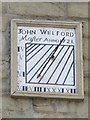 NZ2564 : Sundial on the building on the north side of Trinity House Yard by Mike Quinn
