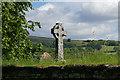 SX7176 : Celtic cross, Widecombe by Alan Hunt