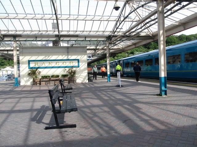 Image result for bangor train station