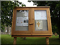 TM0485 : St.Mary's Church Notice Board by Adrian Cable