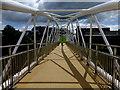 H4572 : Footbridge and shadows, Omagh by Kenneth  Allen