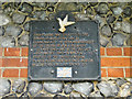 TM1992 : Commemorative Plaque on Long Stratton village hall by Adrian S Pye