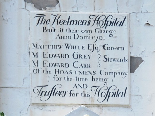 Plaque on The Keelmens Hospital, City Road, NE1