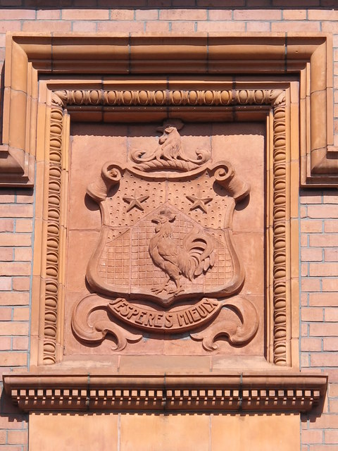 Coat of arms on Sutherland House, College Street, NE1
