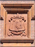 NZ2564 : Coat of arms on Sutherland House, College Street, NE1 by Mike Quinn