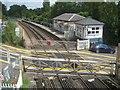 TQ7353 : East Farleigh railway station (1) by Nigel Cox
