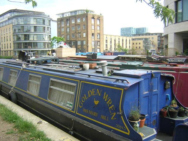 Narrow boats on the Regents Canal, Kings Cross