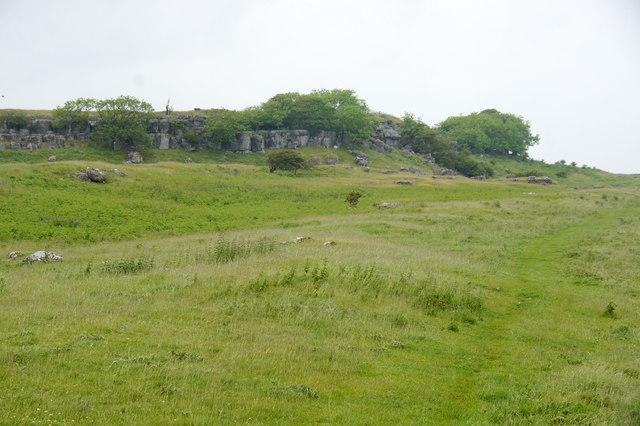 South-east edge of Newbiggin Crags