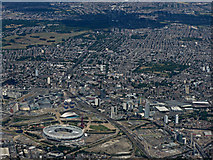 TQ3783 : The Olympic Stadium from the air by Thomas Nugent