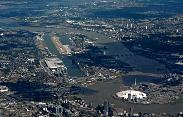 Docklands from the air