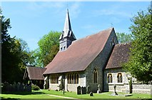 SU3940 : Church of St Peter and Holy Cross, Wherwell, Hampshire by Oswald Bertram