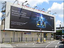 TQ2576 : Formula E advertisement, New King's Road by Oast House Archive