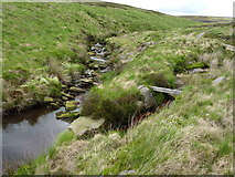 SD9434 : Confluence of moorland streams by John Darch