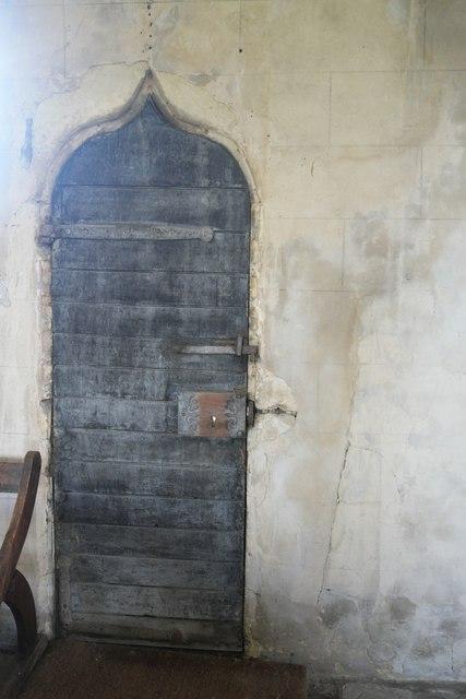 Saint Nicholas, Walcot: Priest's door - iinterior