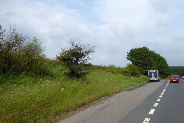 Lay-by by A1237 York by-pass near Haxby