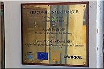 SJ3290 : Plaque, Seacombe Ferry Terminal by El Pollock