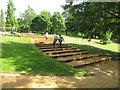 SU9770 : Wide stepped path, Savill Garden by David Hawgood
