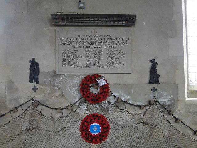 Winterton's Second World War Memorial