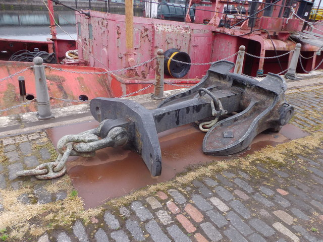 An anchor from the NORTH CARR lightship