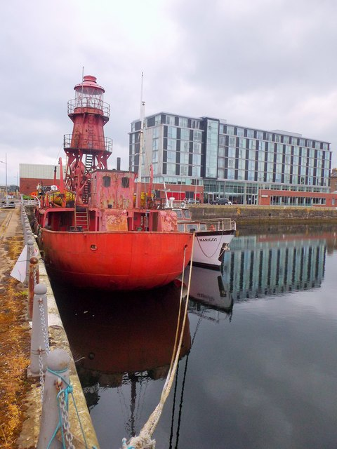 Stern of a former Fife Ness lightship