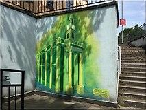 SJ8545 : Newcastle-under-Lyme: subway mural by Jonathan Hutchins