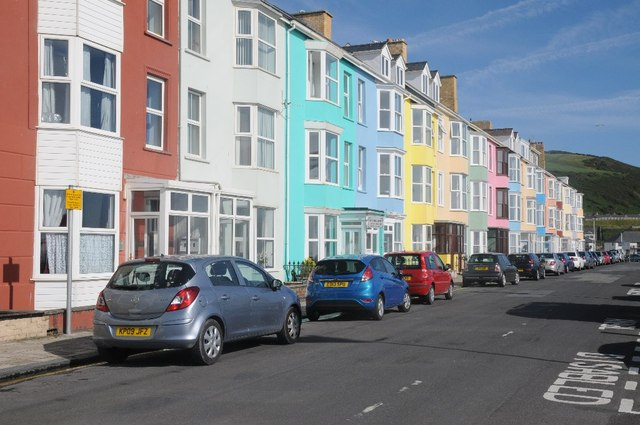 Colourful seafront houses