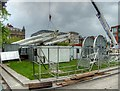SJ8498 : Dismantling and Removing the Manchester Wheel from Piccadilly Gardens by David Dixon