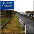 ST5391 : No repairs for 2½ miles ahead on the M48 east of Chepstow by Jaggery