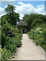 SU8612 : West Dean - Walled garden and summer house by Rob Farrow