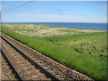 NT9955 : View from a Newcastle-Edinburgh train - The East Coast by Nigel Thompson