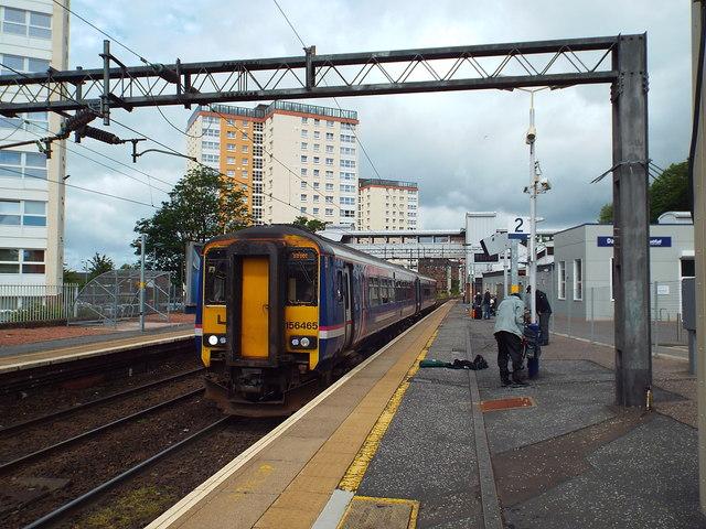 ScotRail train at Dalmuir