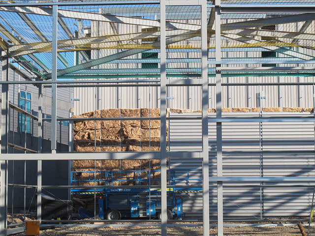 Insulation to new steel clad building