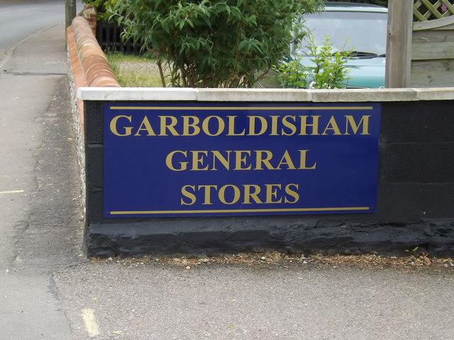 Garboldisham General Stores sign