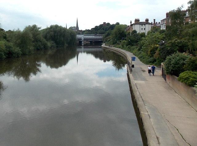 River Severn towards Shrewsbury railway station