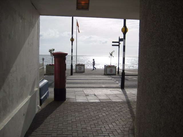 Walking along Aberystwyth seafront