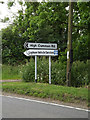 TM0281 : Roadsigns on the A1066 Thetford Road by Adrian Cable
