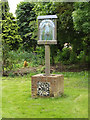TM0481 : South Lopham Village sign by Adrian Cable