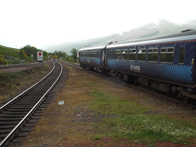 Train leaving Bridge of Orchy